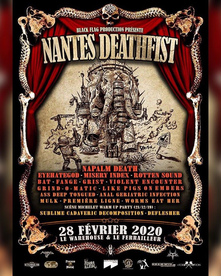 Napalm Death - Live In Nantes, February 28th